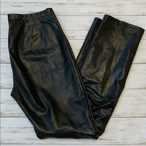 Ann Taylor 100% Leather Pants Size 4